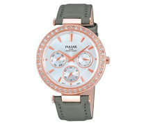 Damen-Armbanduhr Modern Analog Quarz Leder PP6166X1
