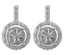 Damen-Ohrstecker 925 Silber rhodiniert Zirkonia Brillantschliff weiß - ZO-6047
