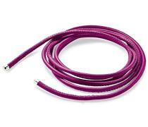 Unisex- Lederhalsband für Charms 925 Sterling Silber 120 cm HB LD 11 12