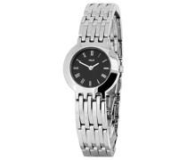 M&M Damen-Armbanduhr Analog Quarz Edelstahl M15459-145