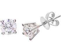 Damen-Ohrringe 18 K Weißgold Diamant 1 ct PE04413W18GVS