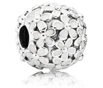 Damen-Bead Liebliche Gänseblümchen-Wiese 925 Silber Emaille - 791494EN12