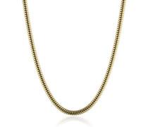 Damen-Schlangenkette Torokette gold plated Stärke 2,4mm 925 Silber teilvergoldet 50 cm - ERNT-50-24G