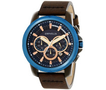 Herren-Armbanduhr Chronograph Quarz Leder 81502