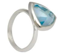 D for Diamond Damen-Ring Sterling-Silber 925 Blautopas 52 (16.6) 2.39 mm KRW001B SZ6