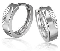 Goldmaid Damen-Creolen diamantiert 925 Sterlingsilber hochglanz