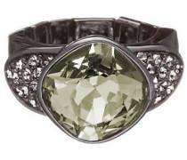 Damen-Ring Edelstahl rhodiniert Kristall Zirkonia taupe