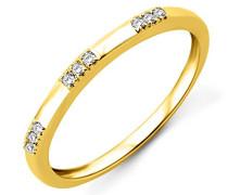 Damen-Ring Memoire 9 Karat (375) Gelbgold mit Brillanten 0.04ct