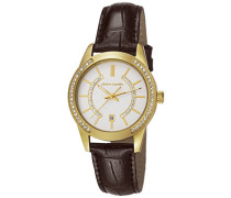 Pierre Cardin Damen-Armbanduhr Troca Femme Analog Quarz Leder PC106582F09