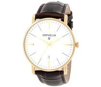 Orphelia Herren-Armbanduhr Analog Quarz Leder 61503