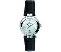 Damen-Armbanduhr 12856/19N Damen-Armband, Leder, Farbe: schwarz