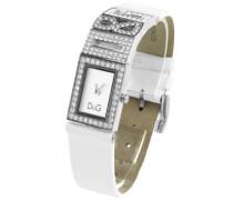 Damen-Armbanduhr SHOUT LOGO LDY SS W/SWA SILVER DIAL STRAP WHITE DW0506