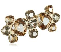 Damen-Ring Edelstahl vergoldet Kristall creme