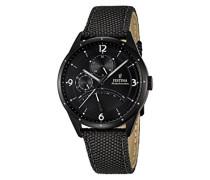 Herren-Armbanduhr Analog Quarz Leder F16849/3