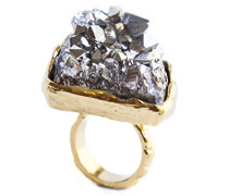 24ct Gelbgold Ring Mara, grau