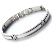 Damen-Armband Edelstahl Edelharzeinlagen weiß 21 cm 41542