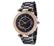 Damen-Armbanduhr Analog Quarz Premium Keramik Diamanten - STM13H402