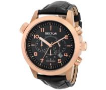 Sector Herren-Armbanduhr OVERSIZE 48MM Analog Quarz Leder R3271602007