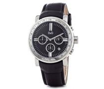 Herren-Armbanduhr GENTEEL CHR MAN SS CASE BLACK DIAL BLACK CROCO DW0486