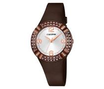 Damen-Armbanduhr Analog Plastik Braun K5659/7