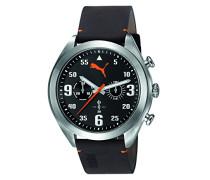 Puma Herren-Armbanduhr Fame Chronograph Quarz Leder PU103871001