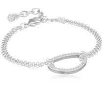 Damen-Armband Versilbert Kristall transP Rundschliff 18.5 cm - 601636042