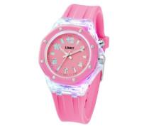 Limit Unisex-Armbanduhr Strobe by Limit Analog Silikon pink 6897.58