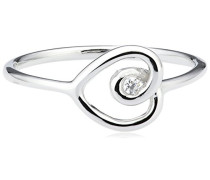 love Damen-Ring Truth, Love, Hope 925 Silber rhodiniert Zirkonia weiß