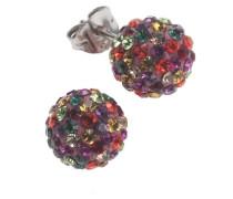 Crystelle Damenohrstecker 925 Sterling Silber Swarovski Kristalle multi 340220003-1