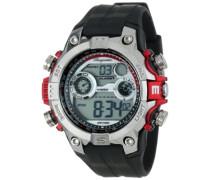 Armbanduhr für Herren mit Digital Anzeige, Quarz-Uhr und Silikonarmband, Wasserdichte mit zeitlosem, schickem Design - klassische, elegante Uhr für Männer - BM800-112A Digital Power