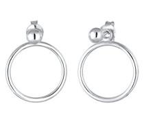 Damen-Ohrhänger Geo Kreis Kugel 925 Silber - 0304852417