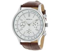 Herren-Armbanduhr Analog Quarz Leder 81506