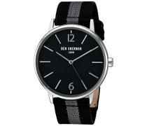 Ben Sherman Herren-Armbanduhr Portobello Stripe Analog Quarz Textil WB044B