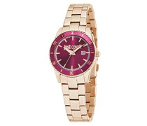 Damen-Armbanduhr JUST IN TIME Analog Quarz Edelstahl R7253202503