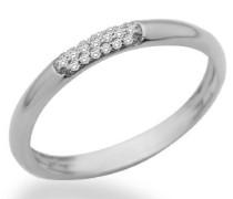 Damen-Ring Memoire 9 Karat (375) Weißgold mit Brillanten 0.06ct