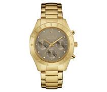Caravelle New York Damen-Armbanduhr BOYFRIEND Chronograph Quarz Edelstahl beschichtet 44L191