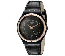 Herren-Armbanduhr Analog Quarz Leder YWB403