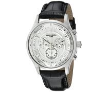 Herren-Armbanduhr XL Analog Quarz Leder JG6600-22