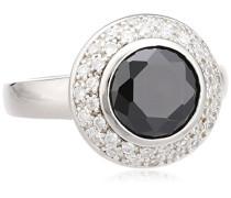 Damen-Ring 925 Sterling Silber Zirkonia schwarz/weiß W: 54 360271130-2L-054
