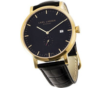 Lars-Larsen 131GBLBL Herren-Armbanduhr Anastasie Quarz analog Leder Schwarz