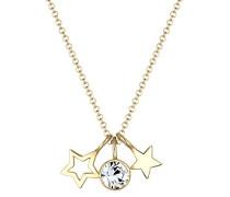 Damen-Kette mit Anhänger Sterne 925 silber Kristall Rundschliff 45 cm 0108551216_45