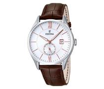 Herren-Armbanduhr Analog Quarz Leder F16872/2