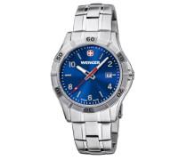 Wenger Herren-Armbanduhr XL Platoon Analog Quarz Edelstahl 01.9411.104