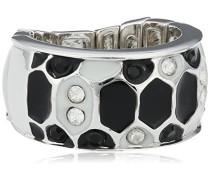 Damen-Ring Metall Emaille Zirkonia weiß