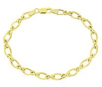 Damen-Armband 9 Karat 375 Gelbgold FigaroHalskette19 cm BT1532