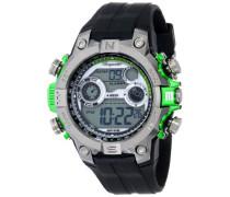 Armbanduhr für Herren mit Digital Anzeige, Quarz-Uhr und Silikonarmband, Wasserdichte mit zeitlosem, schickem Design - klassische, elegante Uhr für Männer - BM800-112D Digital Power