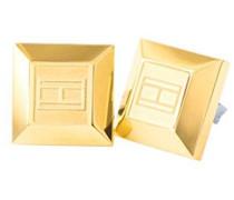 Damen-Ohrklemme 333 Gelbgold Emaille 1 cm-2700646
