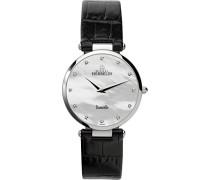 Michel Herbelin Damen-Armbanduhr 17343/89N Damen-Armband, Leder, Farbe: schwarz