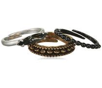 Jewelry Damen-Stapel-Ring Messing  Damen-Stapel-Ring aus der Serie Classic versilbert + metallmix, 1.5 cm 601337004