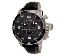 Jet Set Herren-Armbanduhr San Remo Chronograph Quarz Leder J91101-230